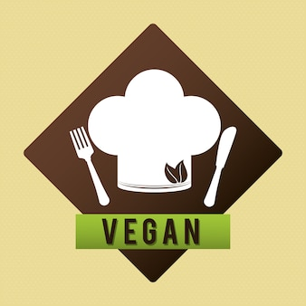 Vegan, ícone, desenho