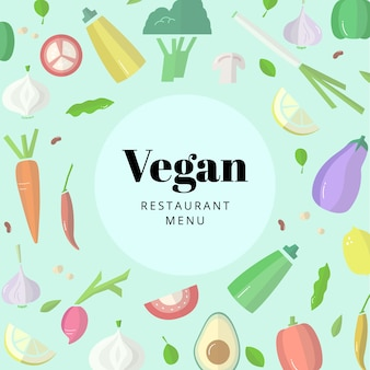Vegan restaurant food
