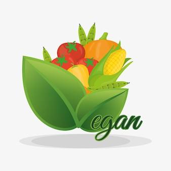 Vegan saudável nutrição frutas e legumes