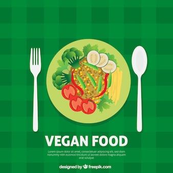 Veganos menu delicioso