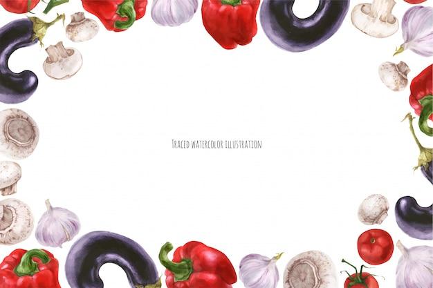 Vegans food landscape frame