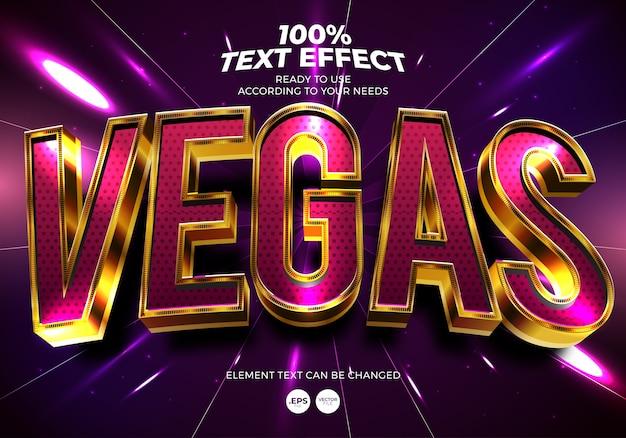 Vegas text effect