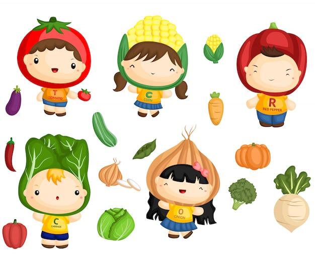 Vegetais e crianças