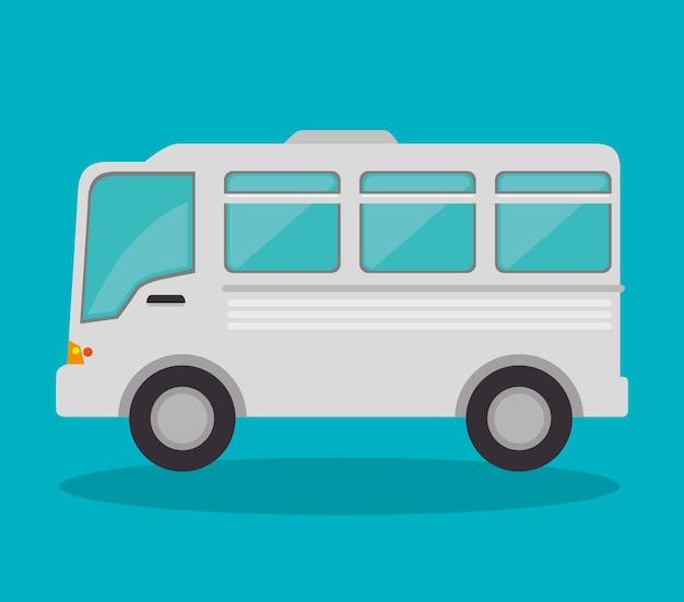 Veículo de ônibus isolado ícone vector ilustração design