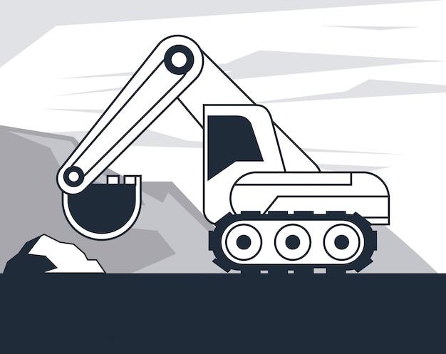 Veículo escavadeira hidráulica