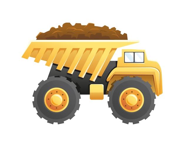 Veículo para construção e mineração de caminhão basculante