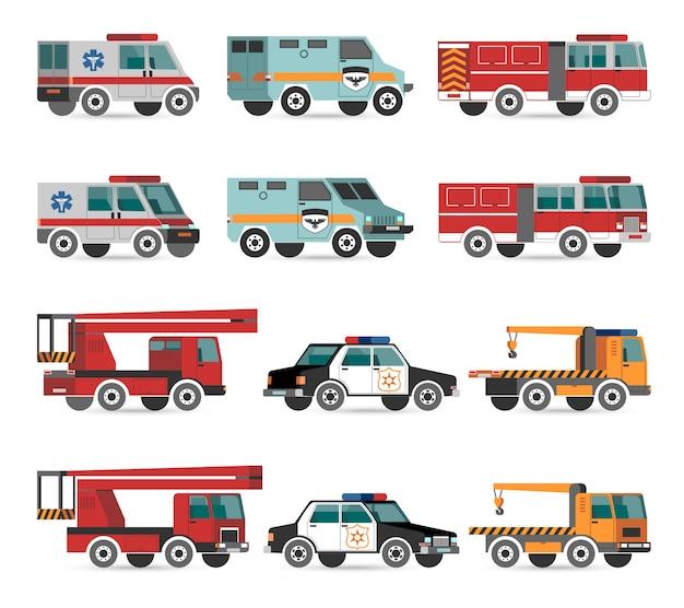Veículos de emergência planos