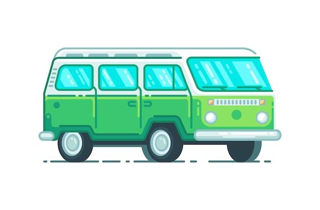 Veículos de minibus do acampamento