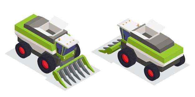 Veículos industriais isométricos