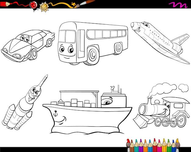 Veículos para transporte de colorir página
