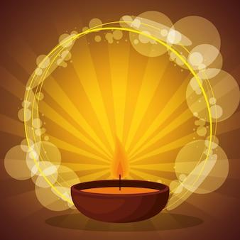 Vela de aromaterapia com luzes de sunburst