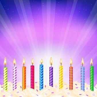 Velas de aniversario