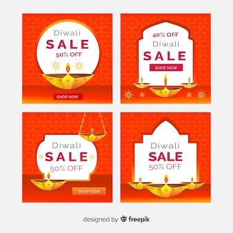 Velas do evento de diwali para coleta de post