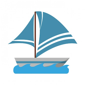 Veleiro no símbolo do mar