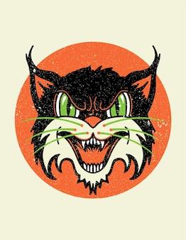 Velha escola gato selvagem