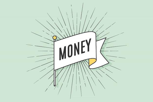 Velha escola vintage bandeira dinheiro
