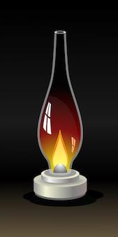Velha lâmpada de querosene