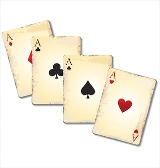 Velhas cartas de jogar