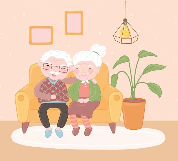 Velho casal fofo
