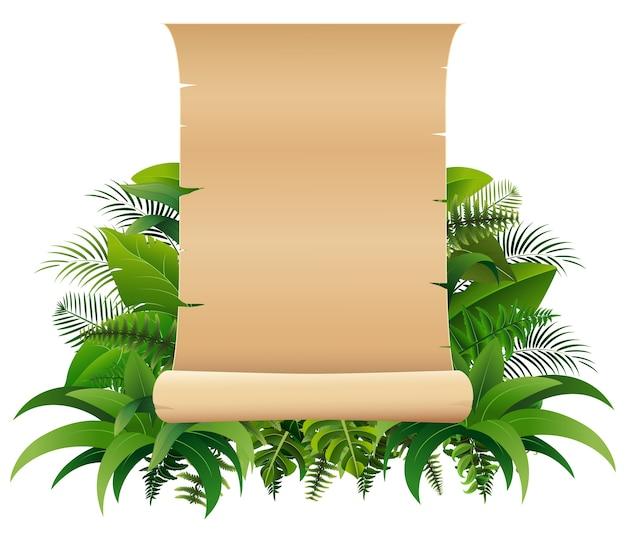 Velho enrolado em rolo de papel nas folhas