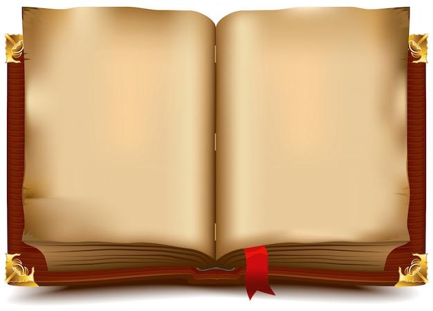 Velho livro aberto