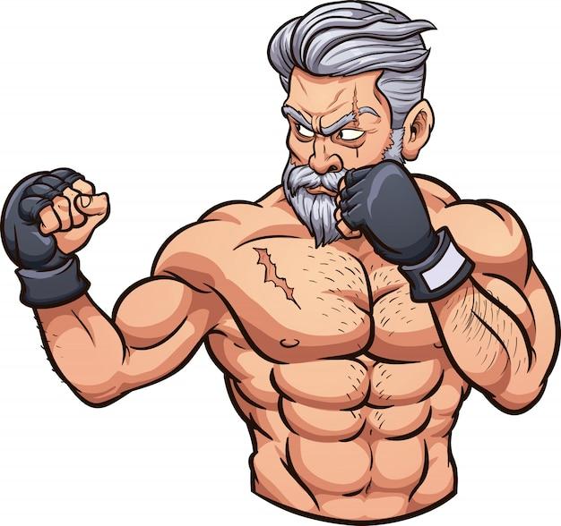 Velho lutador de mma