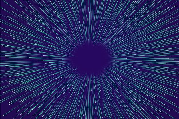 Velocidade centrada - luz de fundo azul