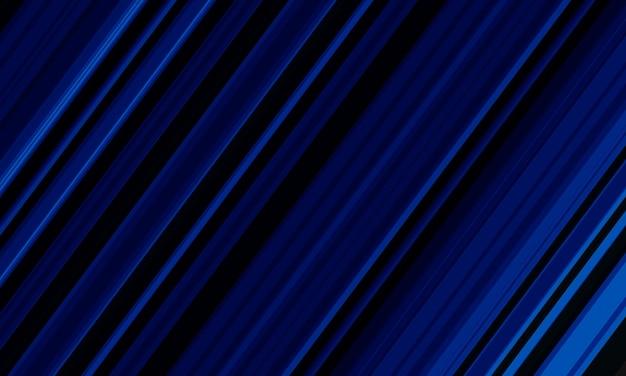 Velocidade da linha azul abstrata dinâmica em fundo preto