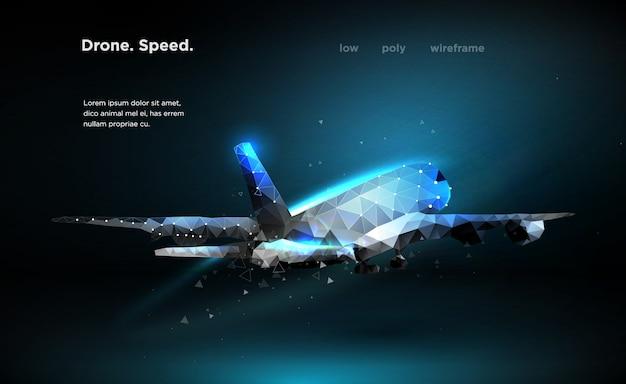 Velocidade de avião de avião