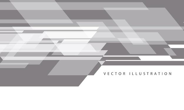 Velocidade de fluxo de dados cinza abstrato em vetor de fundo futurista de tecnologia moderna de design branco
