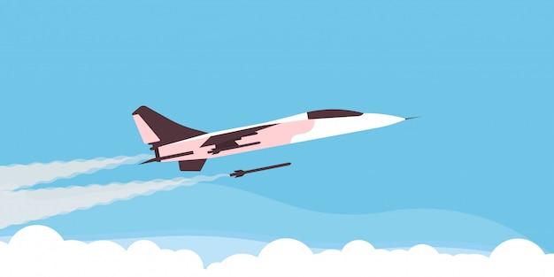 Velocidade de força militar de aeronaves de avião super lutador.