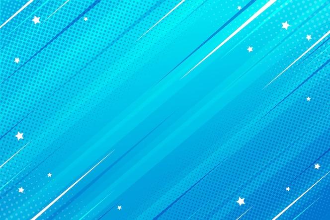 Velocidade de fundo estilo quadrinho plano - azul