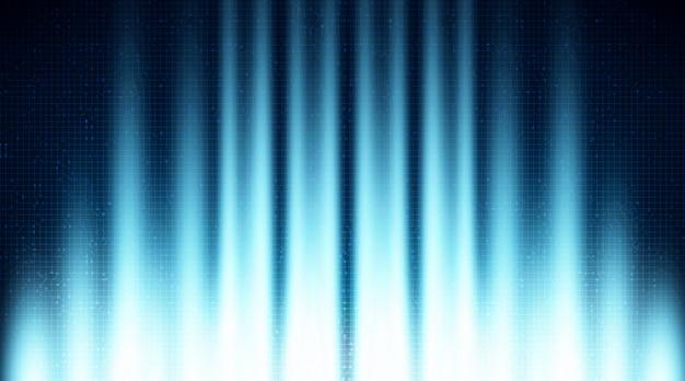 Velocidade de luz no circuito de tecnologia de microchip de circuito