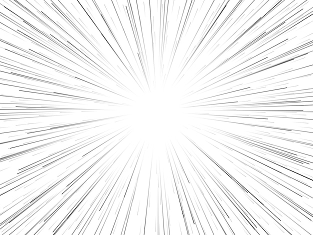 Velocidade do espaço. linhas ou raios dinâmicos starburst abstratos.