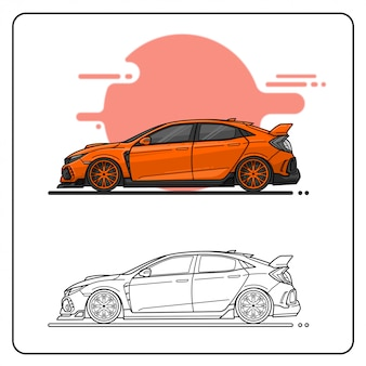 Velocidade laranja fácil editável