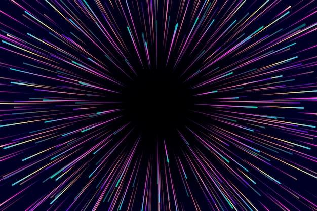 Velocidade luzes chuva fundo escuro
