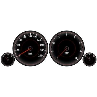 Velocímetro, painel do carro, alta velocidade, velocímetro do carro esportivo