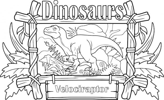 Velociraptor de dinossauro