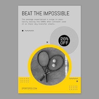 Vença o impossível esporte flyer