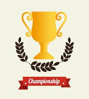 Vencedor sobre bege