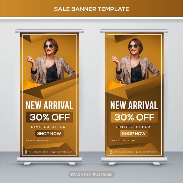 Venda arregaçar banner com conceito premium