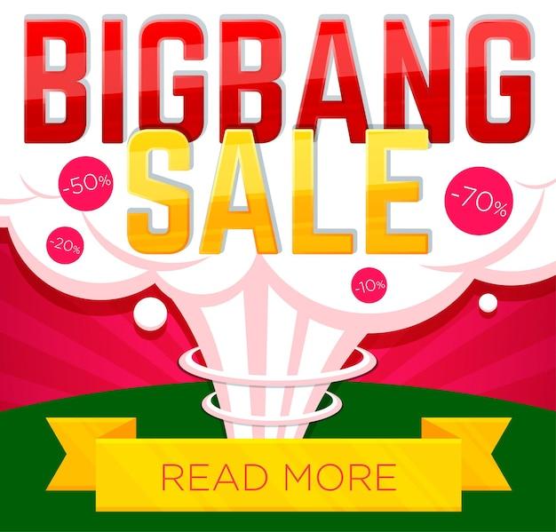Venda de banner de venda big bang e descontos