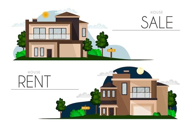 Venda de casas e cobrança de aluguel