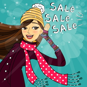 Venda de compras no inverno