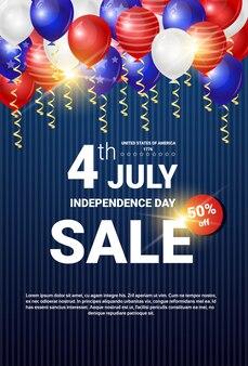 Venda de compras para o dia da independência dos Estados Unidos