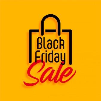 Venda de compras preto amarelo sexta-feira