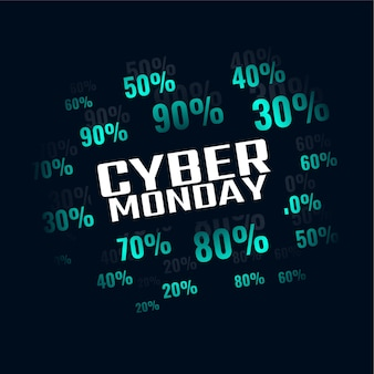 Venda de cyber segunda-feira com banner de oferta de desconto especial