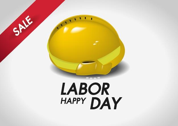 Venda de dia do trabalho feliz de capacete de segurança