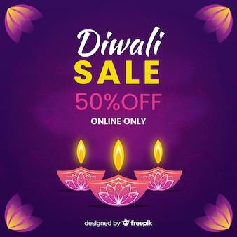 Venda de diwali desenhada de mão