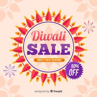 Venda de diwali plana com 50% de desconto